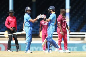 Port of Spain: Indian skipper Virat Kohli and Rohit Sharma during the 2nd ODI match between India and West Indies at Queen's Park Oval in Port of Spain, Trinidad on Aug 11, 2019. (Photo: Twitter/BCCI)