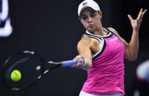 BEIJING, Oct. 6, 2019 (Xinhua) -- Ashleigh Barty of Australia hits a return during the women's singles final against Naomi Osaka of Japan at 2019 China Open tennis tournament in Beijing, capital of China, Oct. 6, 2019. (Xinhua/Zhang Hongxiang/IANS)