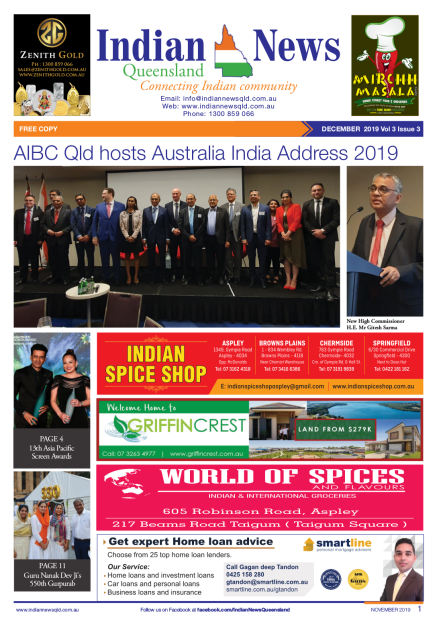 Indian News Queensland –  December 2019