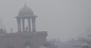 New Delhi: Dense fog engulfs the national capital, on Dec 30, 2019. Delhi and national capital region (NCR) were enveloped in a thick blanket of fog on Monday morning, reducing the visibility and affecting air traffic and vehicular movement. At least 30 Delhi-bound trains were delayed for one to seven hours due to the low visibility in several parts of northern India. The minimum temperature recorded at the Safdarjung observatory was 2.6 degrees Celsius), Palam at 2.9 degress Celsius and Lodhi Road 2.2 at degrees Celsius, according to the India Meteorological Department (IMD). (Photo: IANS)