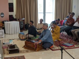 Devotional music being rendered by Atul Deshpande