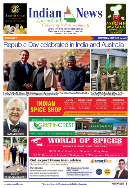 Indian News Queensland – February 2020 Vol 3 Issue 5