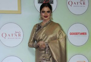Actress Rekha on the red carpet of the GeoSpa Awards 2019, in Mumbai, on April 24, 2019