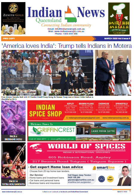 Indian News Queensland –  March 2020