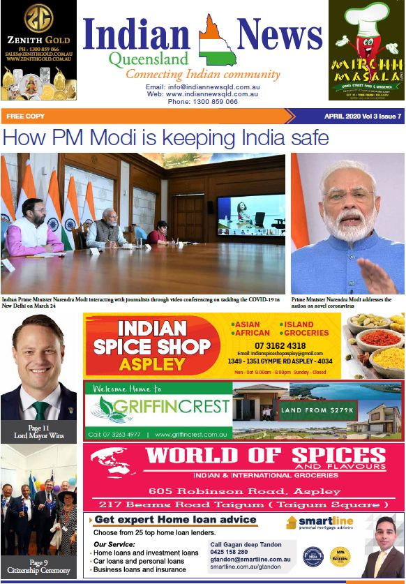 Indian News Queensland –  April 2020