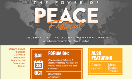 Power of Peace Festival in Brisbane – 28th October 2017