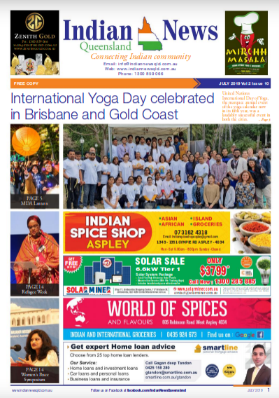 Indian News Queensland – July 2019 Vol 2 Issue 10