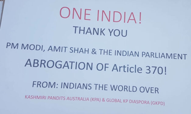Brisbane's Kashmiri Diaspora Rejoices Removal of Article 370