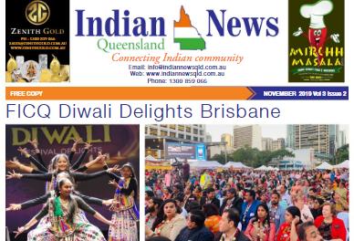 Indian News Queensland – November 2019 Vol 3 Issue 2