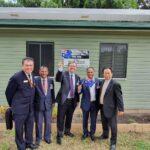 (From left) Lewis Lee OAM, Surendra Prasad, Senator Paul Scarr, Dr Ram Mohan