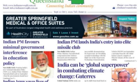 Indian News Queensland – Sept 22-Oct 7 – Vol 3 Issue 13