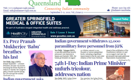India News Queensland – Sept 8-Sept 21 – Vol 3 Issue 12